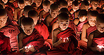 Young monks, Myanmar