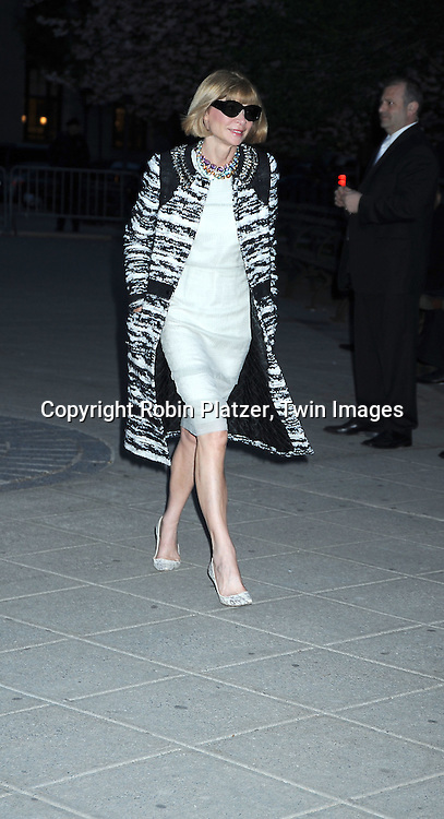 Anna Wintour arriving at The Vanity Fair Tribeca Film Festival Party on April 20, 2010 at The State Supreme Courthouse in New York City.