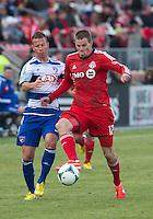06 April 2013: Toronto FC forward Justin Braun #17 in action during an MLS game between FC Dallas and Toronto FC at BMO Field in Toronto, Ontario Canada..The game ended in a 2-2 draw..