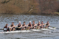 011 IM1.8+ Gloucester RC ..Reading University Boat Club Head of the River 2012. Eights only. 4.6Km downstream on the Thames form Dreadnaught Reach and Pipers Island, Reading. Saturday 25 February 2012.