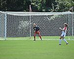 Ole Miss' Kelly McCormick (1) vs. Louisiana-Lafayette in college soccer action at the Ole Miss Soccer Stadium in Oxford, Miss. on Sunday, August 26, 2012. Rafaelle Souza delivered her fourth goal of the season in the 12th minute for Ole Miss (4-0).