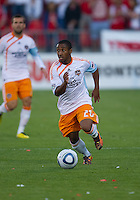 01 July 2010:  Houston Dynamo midfielder Corey Ashe #26 in action during a game between the Houston Dynamo and the Toronto FC at BMO Field in Toronto..Final score was 1-1....