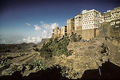 Yemen Haquarah. mountain village of   /  architecture dans le village de la montagne  Haquarah