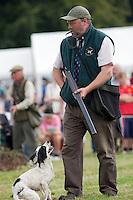 Guist, Norfolk, England, 09/08/2009..Gun-dog demonstration during Norfolk Dog Day at Sennowe Park.