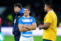Tomas Cubelli of Argentina looks on after the match. The Rugby Championship match between Argentina and Australia on October 8, 2016 at Twickenham Stadium in London, England. Photo by: Patrick Khachfe / Onside Images
