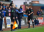 Kilmarnock v St Johnstone..24.11.12      SPL.Ref Stevie O'Reilly sends Kenny Shiels to the stands.Picture by Graeme Hart..Copyright Perthshire Picture Agency.Tel: 01738 623350  Mobile: 07990 594431