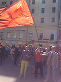 Einwohner Moskaus feiern den Tag des Sieges (9.Mai) / participants Celebration of Day (9th of May)