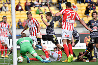 Alex Rodriguez in action during the A League - Wellington Phoenix v Melbourne City at Westpac Stadium, Wellington, New Zealand on Sunday 30 November 2014.