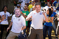 England need all the help they can get with fans dressed in Harry Redknapp and David Beckham masks
