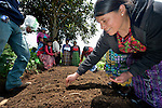Vitalina Gomez Garcia and other Maya women participate in a workshop at an eco-agricultural training center in Comitancillo, Guatemala. The center is sponsored by the Maya Mam Association for Investigation and Development (AMMID).