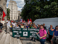 "17.07.2013 - ""3Cosas Campaign"" - Cleaners & Students Demo at Senate House"