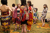 Leopold Designs models, backstage at Redress Raleigh, 5th Annual Eco-Fashion Show, Saturday, March 23, 2013.