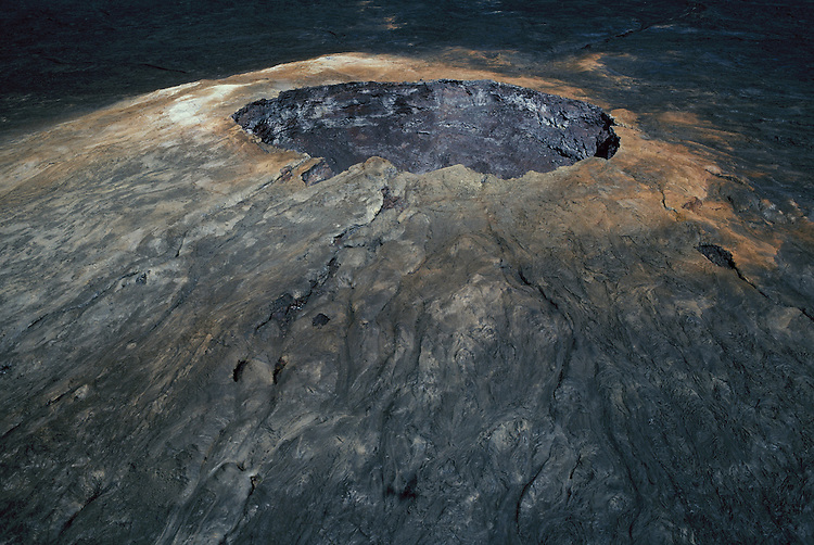 Mauna Ulu crater (aerial view), Hawaii Volcanoes National Park, Island of Hawaii.