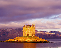 Stalker Castle, Ancient Seat of the Stewarts, Loch Linne, Scotland, United Kingdom
