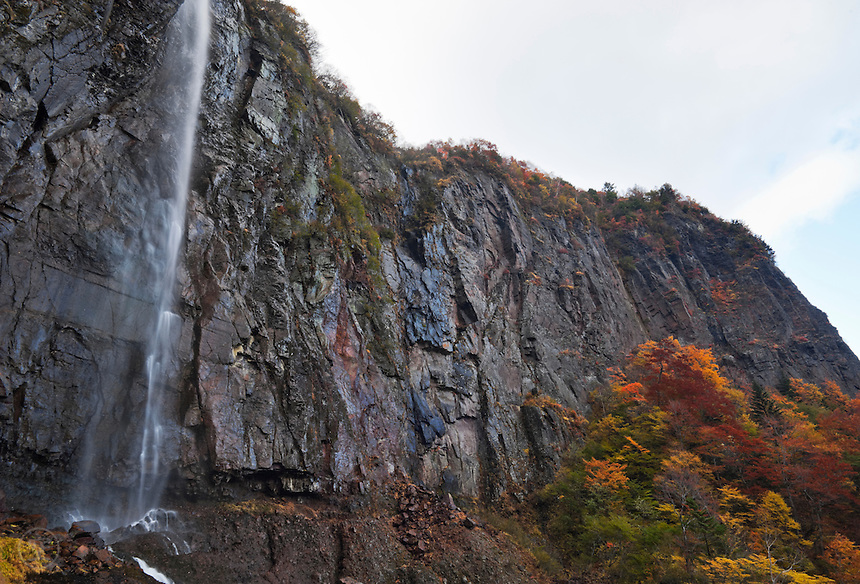 Fudou Taki Waterfall in Autumn, near Nagano, Japan.