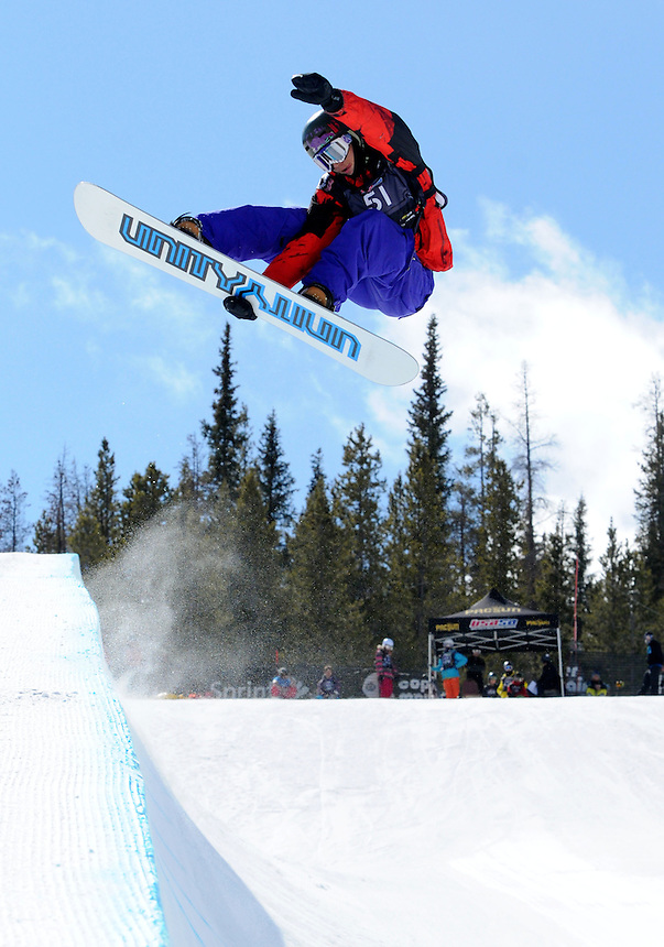 March 7, 2010 USASA Snowboard Halfpipe comp at Copper Mountain