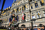 Alex Dowsett (GBR) Movistar Team on stage at sign on before the 101st edition of the Tour of Flanders 2017 running 261km from Antwerp to Oudenaarde, Flanders, Belgium. 26th March 2017.<br /> Picture: Eoin Clarke | Cyclefile<br /> <br /> <br /> All photos usage must carry mandatory copyright credit (&copy; Cyclefile | Eoin Clarke)