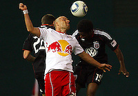of D.C. United of the New York Red Bulls during an MLS match at RFK Stadium, in Washington D.C. on April 21 2011. Red Bulls won 4-0.