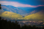 Mount Jumbo and Mount Sentinel on the eastern edge of the valley in Missoula, Montana