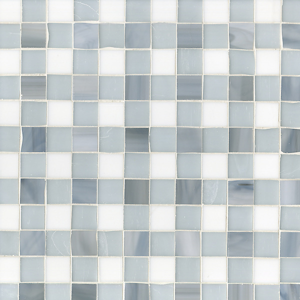 Name: Bonnie<br /> Style: Contemporary<br /> Product Number: CB1204G1BONNIE  (12&quot;x12&quot;)<br /> Description: Bonnie, a jewel glass mosaic field shown in Pearl, Moonstone and Opal, is part of the Plaids and Ginghams Collection by New Ravenna Mosaics.