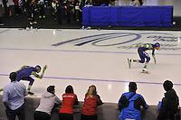 SPEEDSKATING: CALGARY: 14-11-2015, Olympic Oval, ISU World Cup, 1000m, Stefan Groothuis (NED), Kjeld Nuis (NED), ©foto Martin de Jong