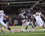 Ole Miss quarterback Bo Wallace (14) vs. Vanderbilt at Vaught-Hemingway Stadium in Oxford, Miss. on Saturday, November 10, 2012. (AP Photo/Oxford Eagle, Bruce Newman)