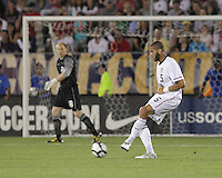 USA defender Oguchi Onyewu (5) passes the ball. In the Send Off Series, the Czech Republic defeated the US men's national team, 4-2, at Rentschler Field in East Hartford, Connecticut, on May 25, 2010.