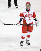 Kathryn Miller (BU - 4) - The Northeastern University Huskies tied Boston University Terriers 3-3 in the 2011 Beanpot consolation game on Tuesday, February 15, 2011, at Conte Forum in Chestnut Hill, Massachusetts.