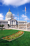 California, San Francisco: City Hall at the Civic Center Plaza.Photo #: 7-casanf354.Photo © Lee Foster 2008