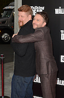 HOLLYWOOD, CA - OCTOBER 23: Michael Cudlitz and Chris Hardwick at AMC Presents Live, 90-Minute Special Edition of 'Talking Dead' at Hollywood Forever on October 23, 2016 in Hollywood, California. Credit: David Edwards/MediaPunch