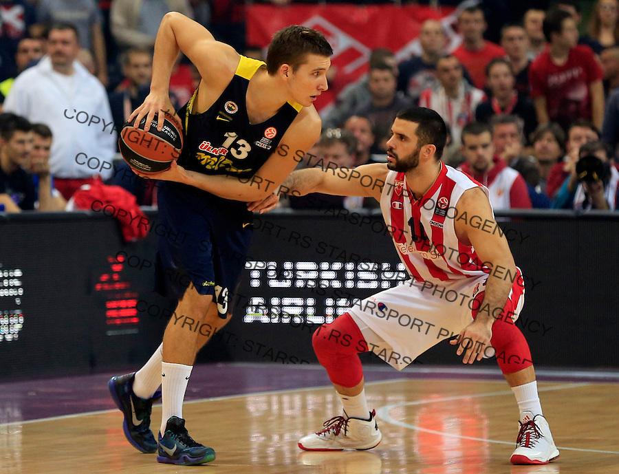 Kosarka Euroleague season 2015-2016<br /> Euroleague <br /> Crvena Zvezda v Fenebahce Istanbul<br /> Pero Antic and Branko Lazic (R)<br /> Beograd, 06.11.2015.<br /> foto: Srdjan Stevanovic/Starsportphoto &copy;