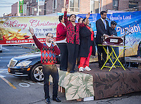 Members of the Bethlehem Punjabi Church at their outreach event in Jackson Heights in the New York borough of Queens on Saturday, December 21, 2013. The congregation of the church is primarily Christian Indians. (© Richard B. Levine)