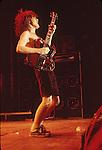 Australian rock group, AC-DC, perform live.