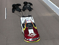 Feb 22, 2015; Chandler, AZ, USA; NHRA funny car driver Tim Wilkerson during the Carquest Nationals at Wild Horse Pass Motorsports Park. Mandatory Credit: Mark J. Rebilas-