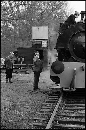 Locomotive & Engineers, Mid-Suffolk Light Railway by Paul Cooklin