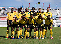 Jamaica lines up during the group stage of the CONCACAF Men's Under 17 Championship at Catherine Hall Stadium in Montego Bay, Jamaica. Jamaica defeated Guatemala, 1-0.