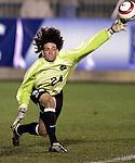 11 November 2005: North Carolina goalkeeper Justin Hughes. The University of North Carolina defeated Clemson University 2-0 at SAS Stadium in Cary, North Carolina in a semifinal of the 2005 ACC Men's Soccer Championship.