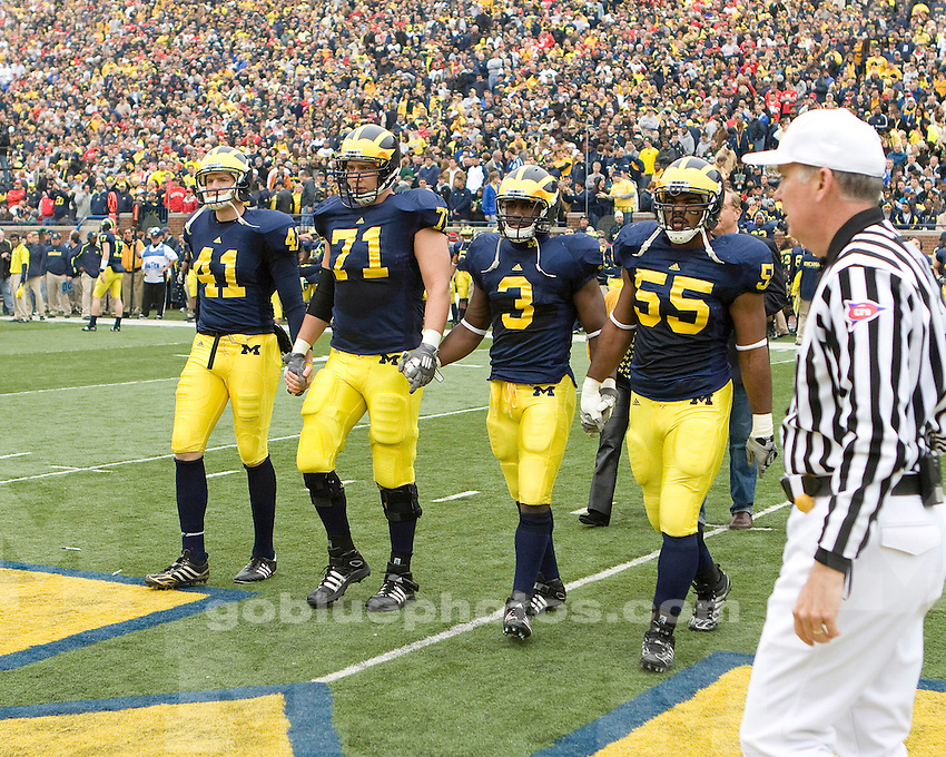 University of Michigan football 21-10 loss to Ohio State University at Michigan Stadium on 11/21/09.