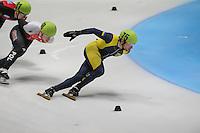 SHORTTRACK: DORDRECHT: Sportboulevard Dordrecht, 24-01-2015, ISU EK Shorttrack Ranking Races, Dmytro POLTAVETS (UKR | UKR), ©foto Martin de Jong