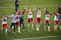 HARRISON, NJ - Wednesday May 18, 2016: The New York Red Bulls defeated the Chicago Fire 1-0 at home at Red Bull Arena during the 2016 MLS regular season.