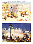 """How to Brighten """"Brighter London."""" The afternoon siesta in Piccadilly Circus. The Aquatic carnival."""