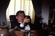 August 1983, New York City. Kennedy TV miniseries written by Reg Gadney and directed by Jim Goddard. Aired on the 20th of November 1983 for the 20th anniversary of the Kennedy assassination. Photo of the star Martin Sheen as President John F. Kennedy.