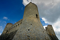 Gran Sasso National Park, Abruzzo, Italy, June 2008. The medieval village and fortress of Rocca Calascio is built high on the rocks overlooking the Abruzzan countrieside. . Photo by Frits Meyst/Adventure4ever.com