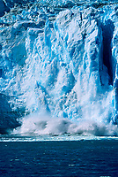 Tidewater face of Aialik glacier, calving into Aialik Bay, Kenai Fjords National Park, Alaska