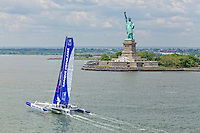 Armel Le Cléac'h and the Maxi Trimaran Solo Banque Populaire VII in New York City