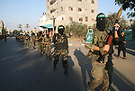 Palestinian Hamas militants take part in a rally held in the refugee camp of Nusseirat in the central Gaza Strip. Palestinian president Mahmud Abbas has rejected a call for talks with arch-rival Hamas ahead of early November Palestinian reconciliation talks in Cairo, his spokesman said yesterday.