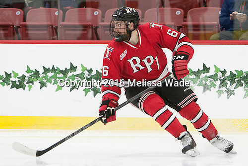 Phil Hampton (RPI - 6) - The Harvard University Crimson defeated the visiting Rensselaer Polytechnic Institute Engineers 5-2 in game 1 of their ECAC quarterfinal series on Friday, March 11, 2016, at Bright-Landry Hockey Center in Boston, Massachusetts.