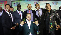 NEW YORK, NY-August 01`: Scott Eastwood, Will Smith,David Ayer, Adewale Akinnuoye-Agbaje, Adam Bearch, Jai Courtney at Warner Bros. Pictures & DC, Atlas Entertainment  presents the World Premiere of Suicide Squad  at the Beacon Theatre in New York. NY August 01, 2016. Credit:RW/MediaPunch