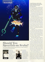 Scuba Diving Magazine, March/April 2011, &quot;Ask an Expert&quot; Feature, P76, editorial use, USA, Image ID: Florida-Tampa-Spearfishing-0004