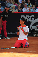 Fabio Fognini (ITA) winning the final of the Bet-At-Home Open at Rothenbaum in Hamburg, Germany, July 21, 2013. Photo: Miroslav Dakov
